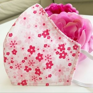 3 for $25 Triple Layer Handmade Face Mask floral